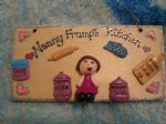 3d  Personalised Single Character Kitchen Sign Plaque Any Phrasing Nanny Grandma Mum Nan Nanna Mummy Ideal Mother's Day Gift